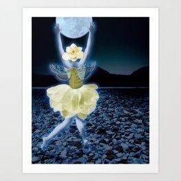 Magnolia Dancer Art Print