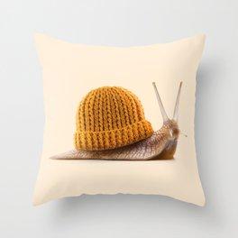 WINTER SNAIL Throw Pillow