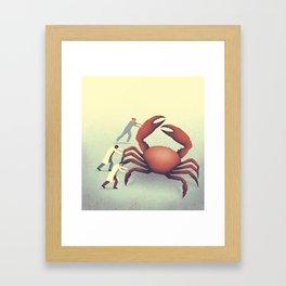 The big crab Framed Art Print