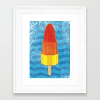 rocket Framed Art Prints featuring Rocket by Nicholas Darby