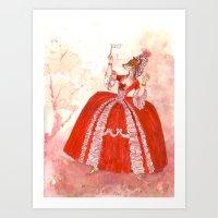 Wig Vixen Art Print