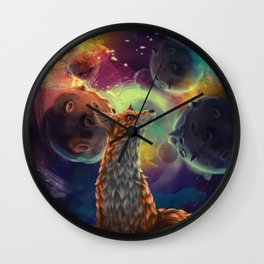 The Fox on the Planets Wall Clock
