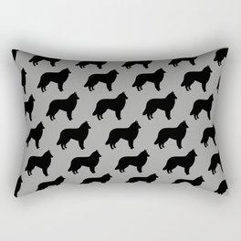 Belgian Tervuren Silhouette Rectangular Pillow