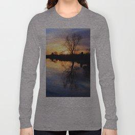 Floodplain at Sunset 1 Long Sleeve T-shirt