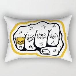 Gold skull ring Rectangular Pillow