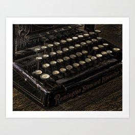 Remington Typewriter Art Print