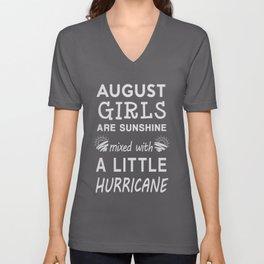 August Birthday Gift,August Girls T-Shirt Unisex V-Neck