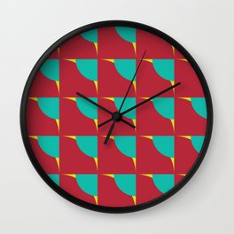 Quarter-Circles II Wall Clock