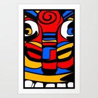 tiki Art Prints featuring TIKI by AJ Camara