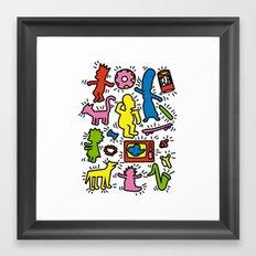 Haring - Simpsons Framed Art Print