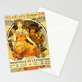 "Alphonse Mucha ""World's Fair, St. Louis, Missouri"", 1904 Stationery Cards"
