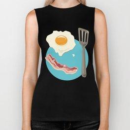 bacon & eggs, blue Biker Tank