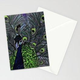 Peacock ~ Jennifer's Art Design Stationery Cards