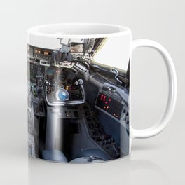 This photo shows the cockpit of A Shuttle Training Aircraft (STA) sitting on the Shuttle Landing Fac Coffee Mug
