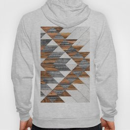 Urban Tribal Pattern 12 - Aztec - Wood Hoody