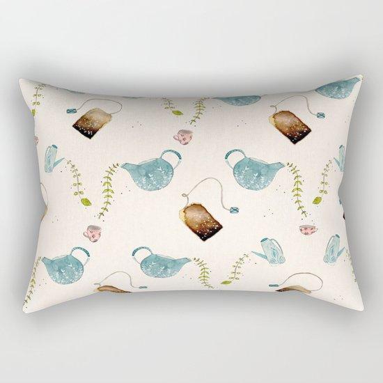 TEA PARTY PATTERN Rectangular Pillow