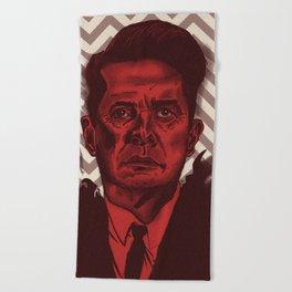 Dale Cooper Twin Peaks Beach Towel