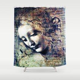 Leonardo Da Vinci Female Head Shower Curtain