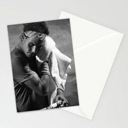 Rafa Nadal towels off Stationery Cards
