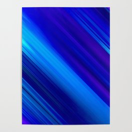 Abstract watercolor colorful lines painting Poster