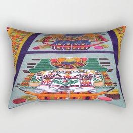 Guatemalan Alfombras Rectangular Pillow