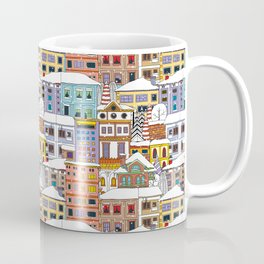Winter town pattern Coffee Mug