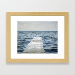 Out into the Lake Framed Art Print