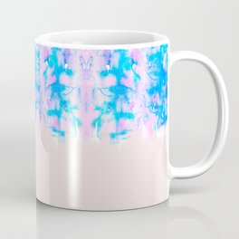 Girly Pastel Pink and Blue Watercolor Paint Drips Coffee Mug