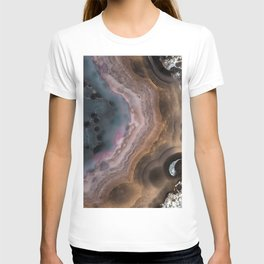 Multi colored agate slice T-shirt