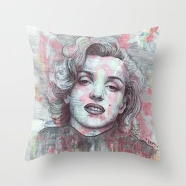 Marilyn - Give A Girl The Right Pair Of Shoes And She'll Conquer The World Throw Pillow