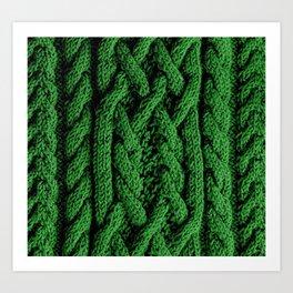 Irish sweater (green) Art Print