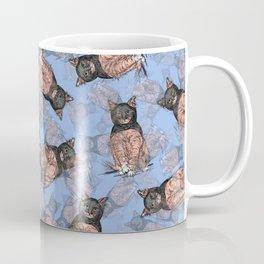 BAT CAT Pattern 2 Pink Periwinkle Coffee Mug