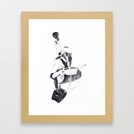 Bike girl Framed Art Print
