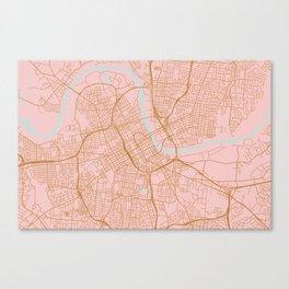 Nashville map, Tennessee Canvas Print
