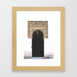 Alhambra Door Framed Art Print