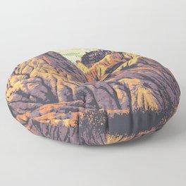 Dinosaur Provincial Park Floor Pillow