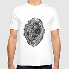 Tree Rings - Dark White MEDIUM Mens Fitted Tee