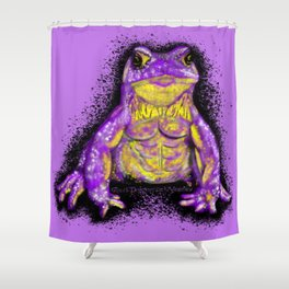 Tough Toad - Purple Shower Curtain