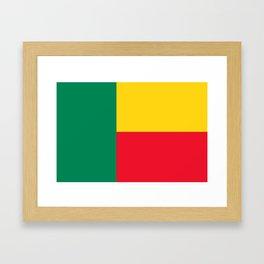 benin country flag Framed Art Print