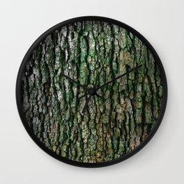 Trunk Moss Wall Clock
