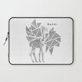 Skeletal Giraffe Laptop Sleeve