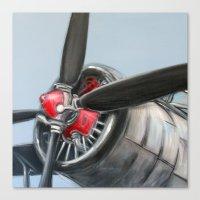 airplane Canvas Prints featuring Airplane by Renato Verzaro