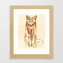 Ethereal Fox Framed Art Print