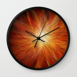 Abstract Sunburst Wall Clock