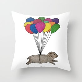 A Smol Hippo Throw Pillow