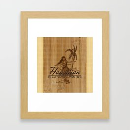 Tradewinds Hawaiian Island Hula Girl Framed Art Print