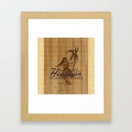 Tradewinds Hawaiian Island Hula Girl Framed Art Print