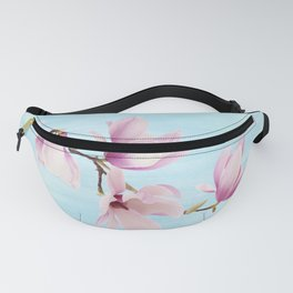 Pink Magnolia Flowers Fanny Pack