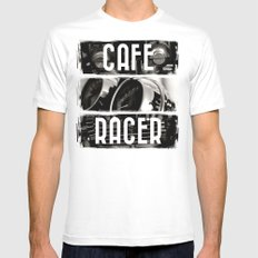 Cafe Racer White Mens Fitted Tee MEDIUM