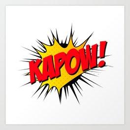 Kapow!! Art Print